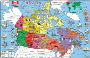 travel map of canada western canada
