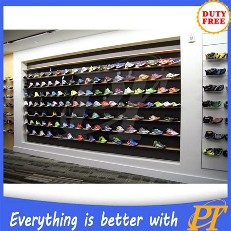 customized shoe shelving wall mount display shelves for