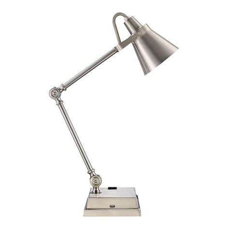 brushed nickel desk l monteaux lighting in adjustable brushed nickel led desk