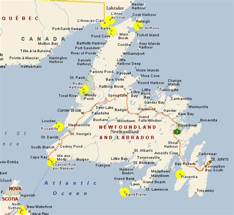 newfoundland map map of newfoundland canada pictures to pin on pinsdaddy