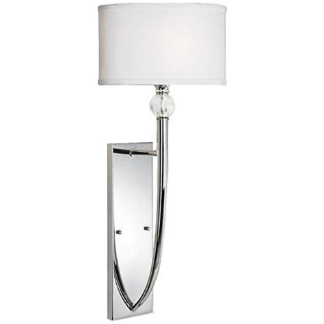 uttermost vanalen 13 quot wide polished chrome wall sconce