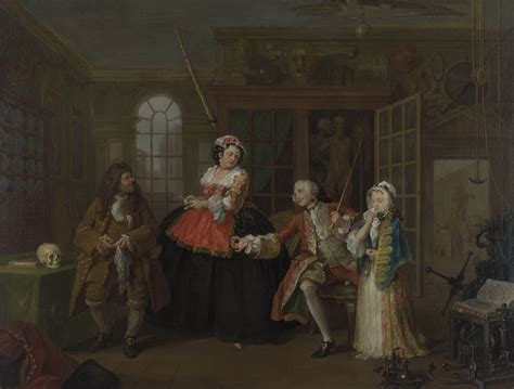 8 Paintings By Hogarth by File Marriage A La Mode 3 The Inspection William