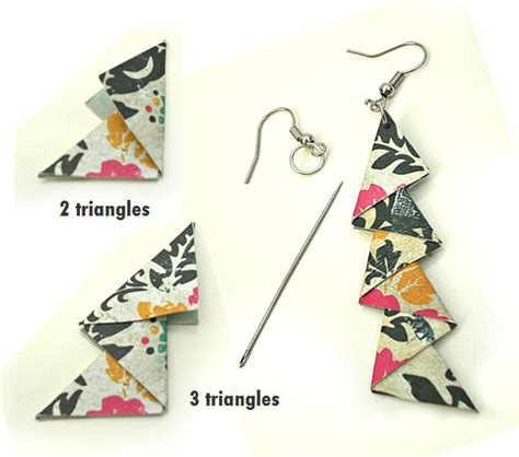 Paper Earrings Tutorial - 1000 images about origami on origami paper