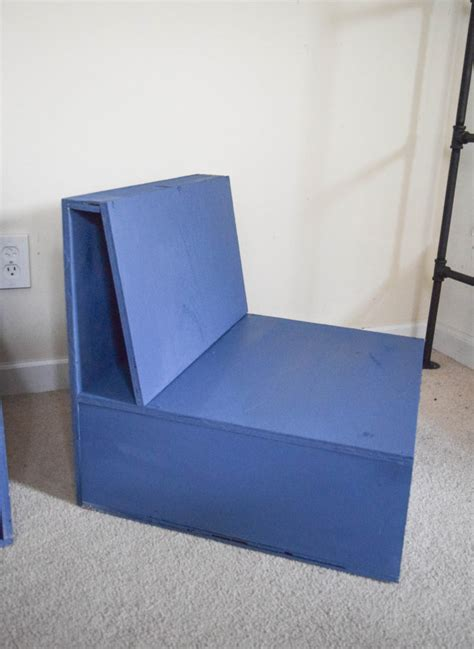 armchair with storage easy steps to make diy plywood kids chairs with storage
