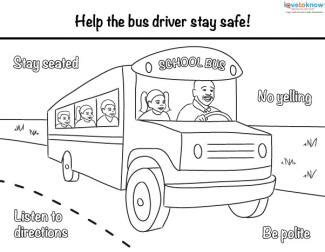 coloring pages for school bus safety bus safety printables lovetoknow