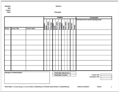 wehs report card template report cards illuminate education