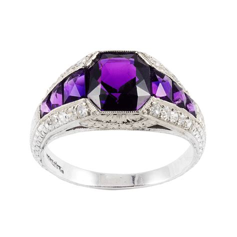 a la vieille russie edwardian amethyst and ring