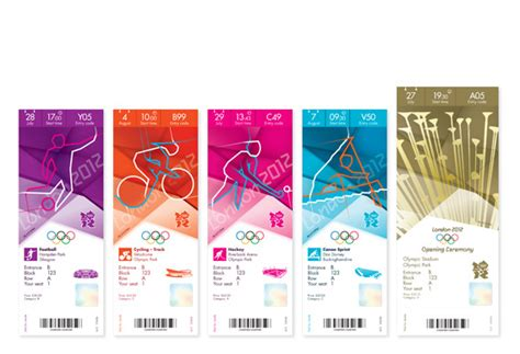 design event tickets uk olympics ticket designs revealed creative review