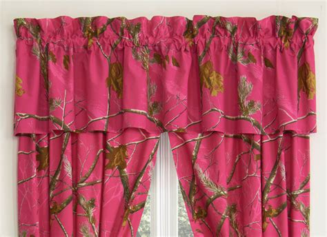 pink realtree camo curtains camouflage curtains realtree ap fuchsia valance camo trading