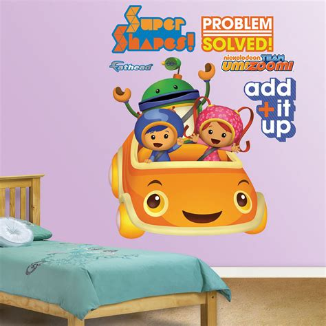 team umizoomi bedroom umizoomi car realbig wall decal