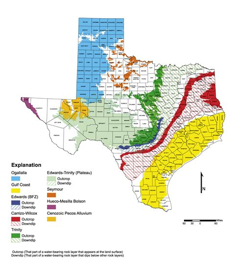 texas aquifers map 2002 state water plan texas water development board