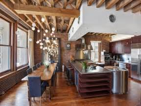 Countertops Kitchen Ideas - cozy new york city loft enthralls with an eclectic interior wrapped in brick