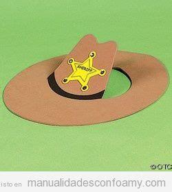 como hacer sombreros de vaqueros para ninas sombrero de vaquero o cowboy hecho con foamy o goma eva