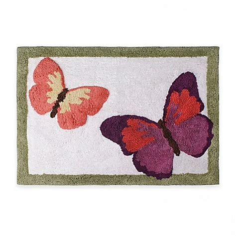 Butterfly Bathroom Rug Rainbow Butterfly 20 Inch X 30 Inch Bath Rug Bed Bath Beyond