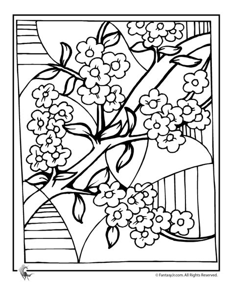 japanese cherry tree coloring page cherry blossom coloring pages cherry blossom art coloring
