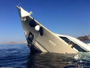 Yacht Sinking photographs and footage show yacht sinking