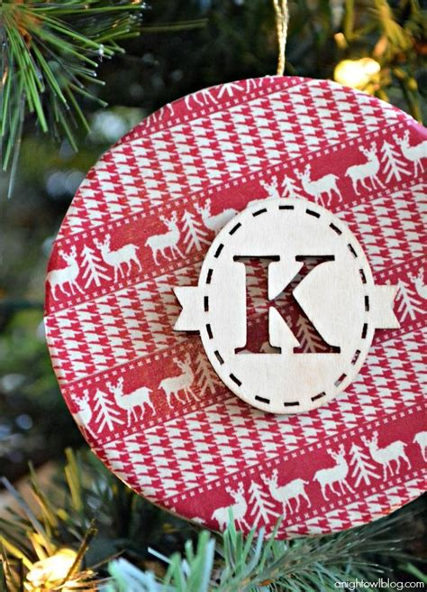 how to make this super cute washi tape monogram ornament