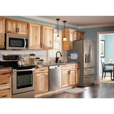 Hickory Kitchen Cabinets Home Depot | hton bay 36x34 5x24 in sink base cabinet in natural hickory new house thoughts