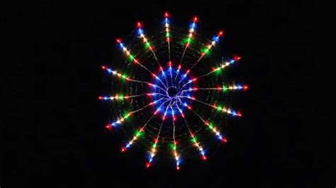 256 led multi colour circle net christmas lights with