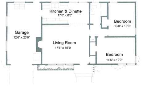 2 Bedroom Open Floor Plans | 2 bedroom house plans with open floor plan 2 bedroom house