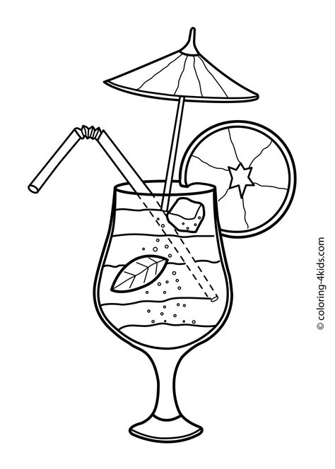 cocktail sketch coloring pages drink cocktail coloring pages