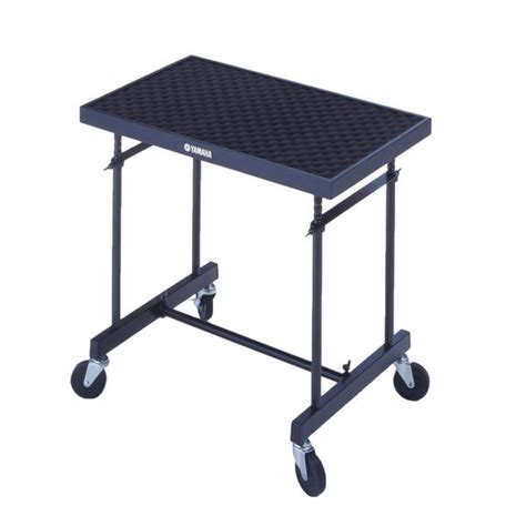 table cart yamaha rolling bell stand and trap table cart concert