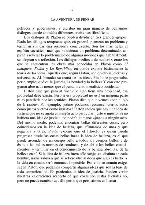 La aventura de pensar. (Fernando Savater