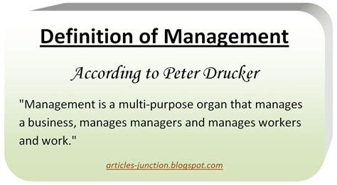 management description articles junction definition of management