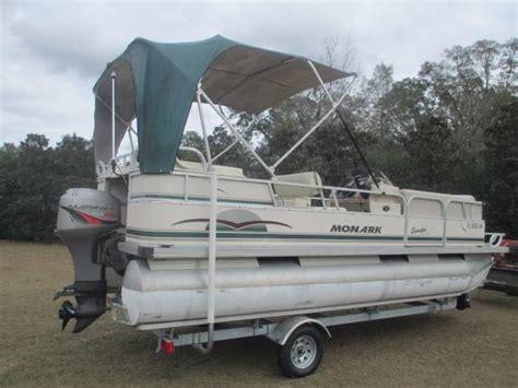 used pontoon boats ocala fl 1998 monarch pontoon boat 7400 ocala boats for sale