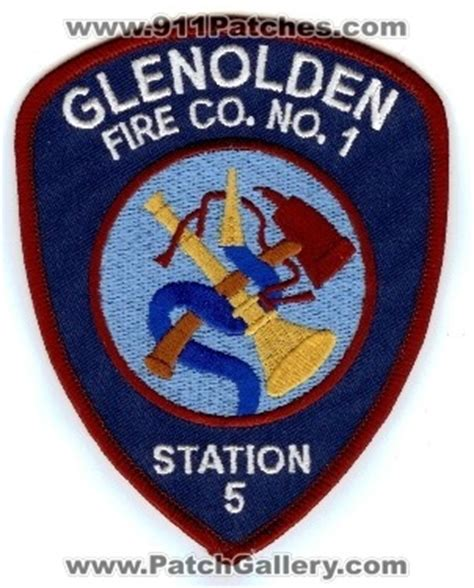 Glenolden Post Office by Pennsylvania Glenolden Co No 1 Station 5