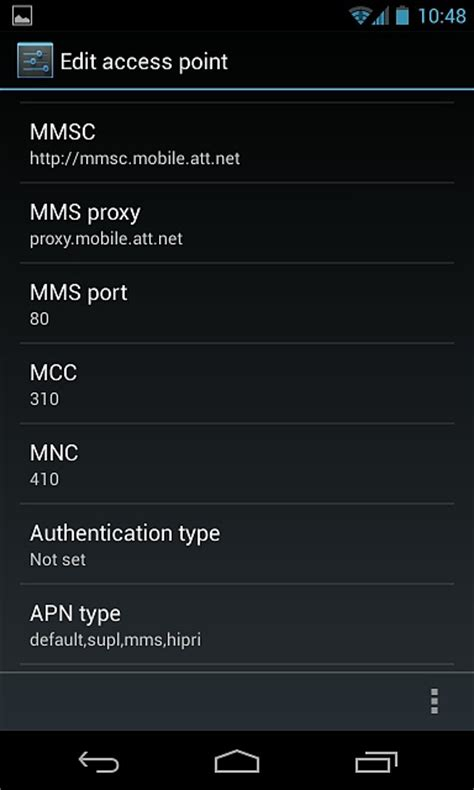 at t apn settings android updated apn setting android forums at androidcentral