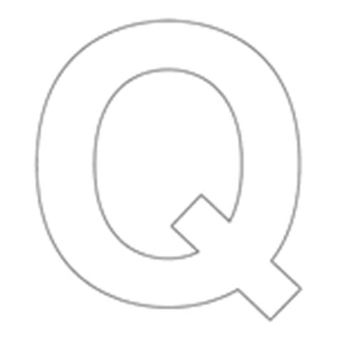letter q template colouring in templates large letters