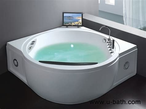 bathtub with tv u bath luxury spa bath 2 persons with jet whirlpool bathtub and tv bathtubs bathroom