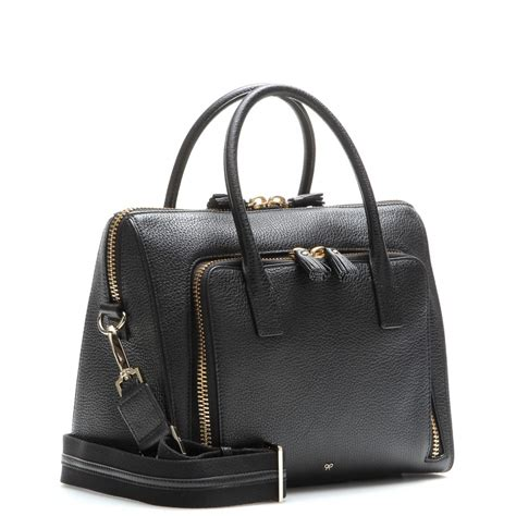 Anya Hindmarch Aretha Shoulder Bag by Anya Hindmarch Small Maxi Zip Top Handle Leather Shoulder