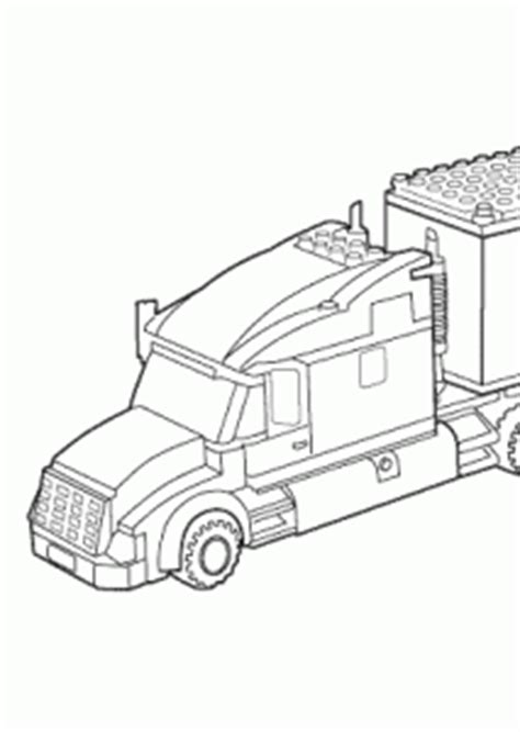 lego truck coloring page for kids printable free lego