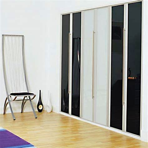 Aries Bi Fold Black And White Closet Door 010 Aries Multi Fold Closet Doors