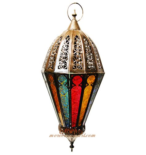 Moroccan Style Lamp by Moroccan Colored Glass Lamps Hand Carved Hanging Lamp