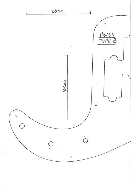 bass guitar template precision bass pickguard dimensions crafts