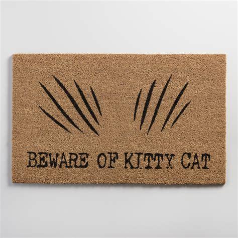 Beware Of Doormat beware of cat coir doormat world market