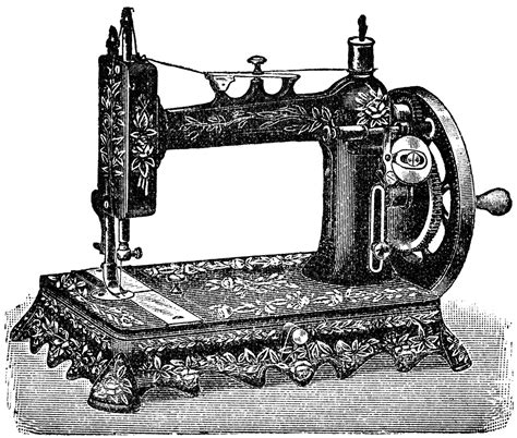 free vintage image french sewing machine clipart 1901