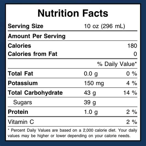 apple nutrition facts martinelli s apple juice