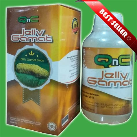 Qnc Jelly Gamat jual qnc jelly gamat 100 teripang emas mimin herbal