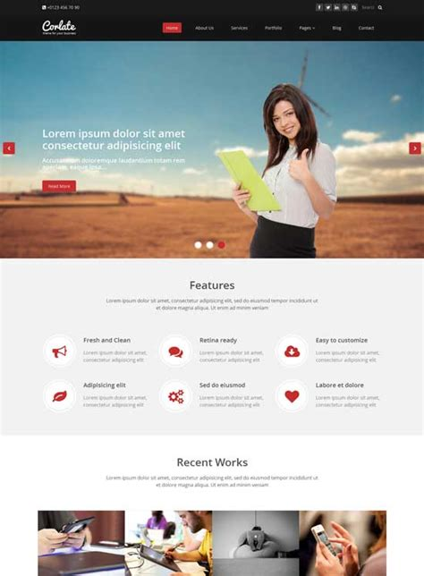 50 Best Free Bootstrap Website Templates 2019 Freshdesignweb Html Simple Website Templates Free