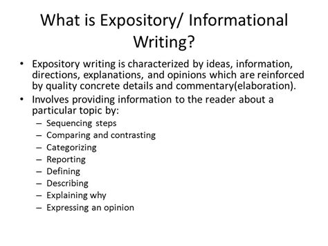 What Is Expository Essay by Expository Writing Practice Ppt