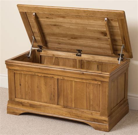 bedroom trunk french solid oak wood blanket toy box chest storage trunk