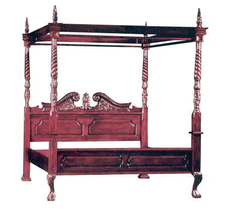 Ranjang Jati Kanopi dipan tempat tidur kanopi size180x200 cm kayu jati ud