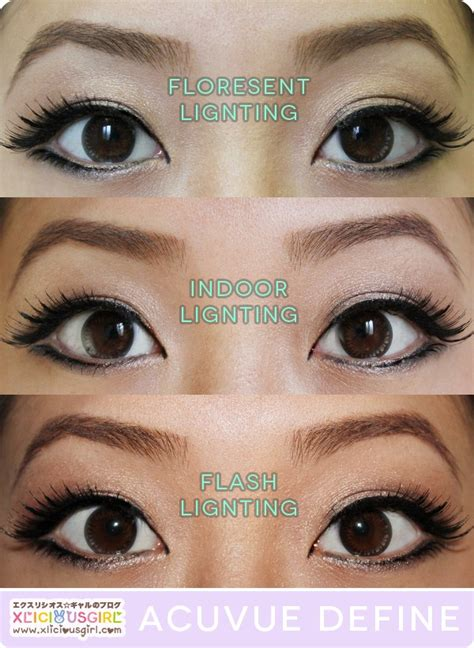 define tow colored 1 day acuvue define shine circle lens review