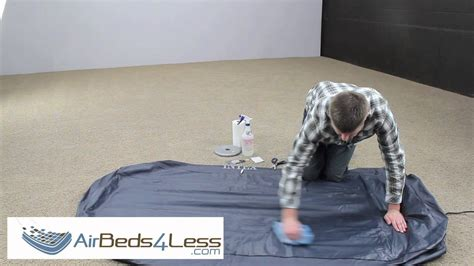 How To Patch A Air Mattress by How To Find A Leak And Patch An Air Bed Mattress Correctly