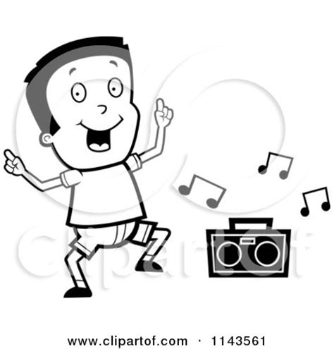 boy dancer coloring page royalty free rf radio clipart illustrations vector