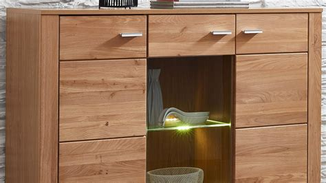 highboard schrank highboard moldau schrank in wildeiche teilmassiv inklusive led